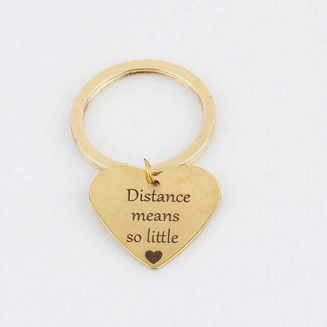 Distance Means So Little Keychain