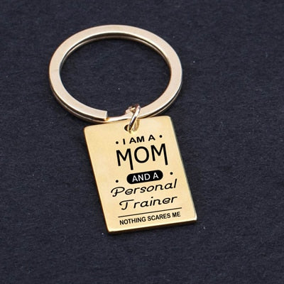 Personal Trainer Mom Keychain