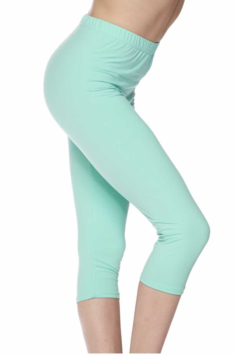 """Basic Mint"" Capri Leggings"
