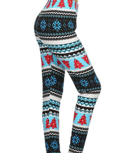 """Blue Christmas"""" Honey Butter Leggings"
