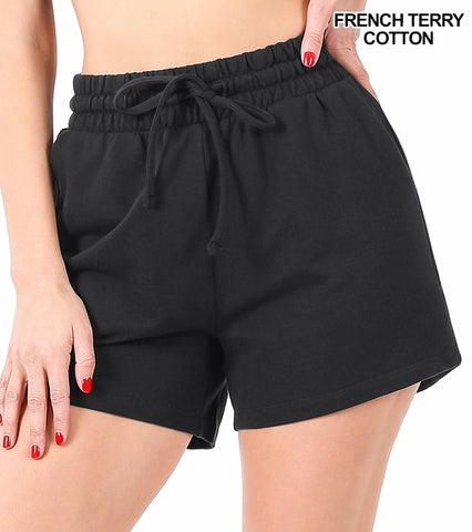 French Terry Pocket Shorts in BLACK