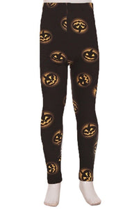 """Jack O'lantern"" Youth Leggings"