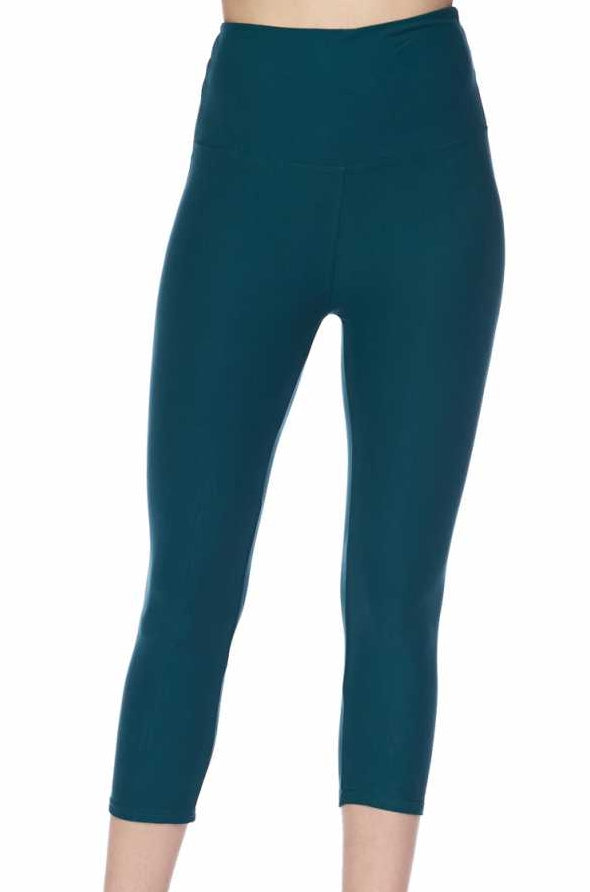 """Basic Jade"" Capri Leggings"