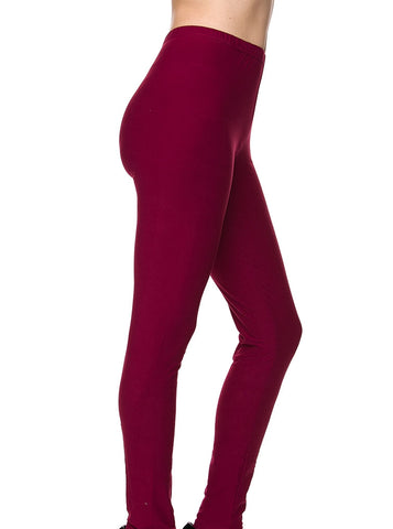 """Basic Burgundy"" Leggings"