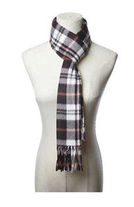 Fringed Fleece Scarf in BROWN