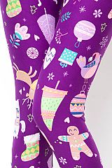 """Whimsical Christmas"" Honey Butter Leggings"