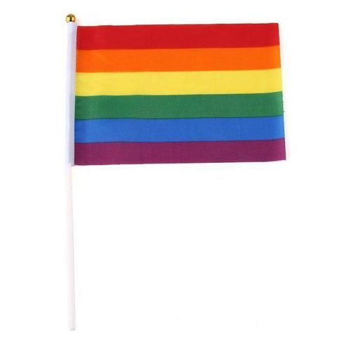 5 x Rainbow Hand Waving Flag - Gay And Lesbian LGBT Pride