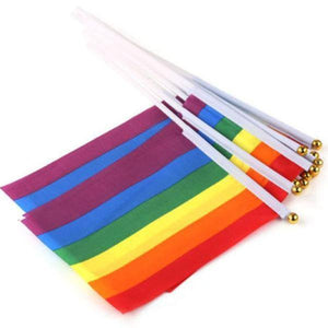 5 x Rainbow Hand Waving Flag - Gay And Lesbian LGBT Pride - gaypridehub