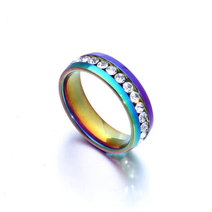 Rainbow Colorful Crystal Ring