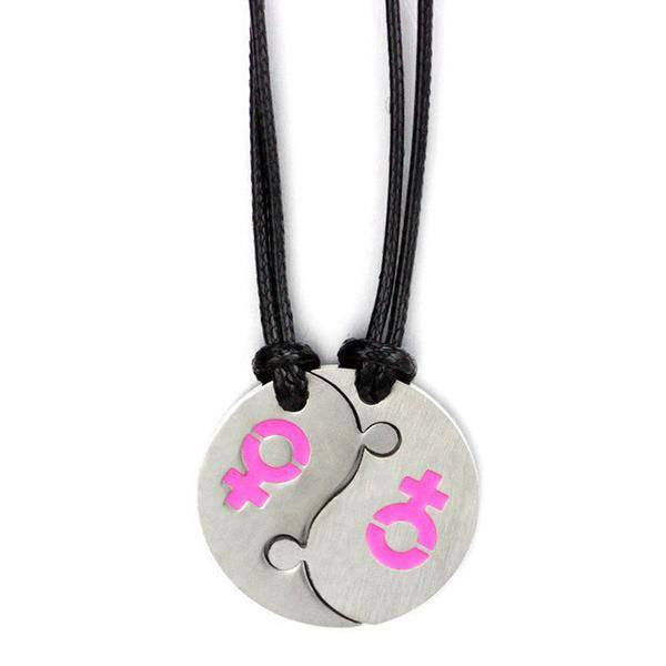 Couple Necklace Yin Yang - LGBT Lesbian Love And Pride