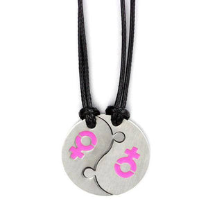 Yin Yang - Lesbian Couple Necklace - gaypridehub