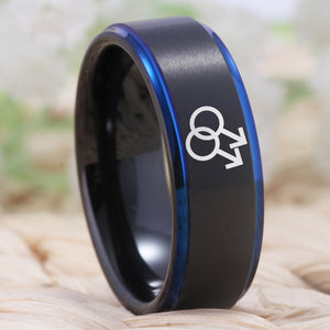 Gay Engagement Ring - Tungsten carbide