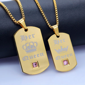 Her Queen Couple Necklaces