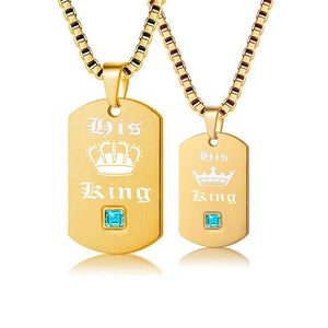 His King Couple Necklaces