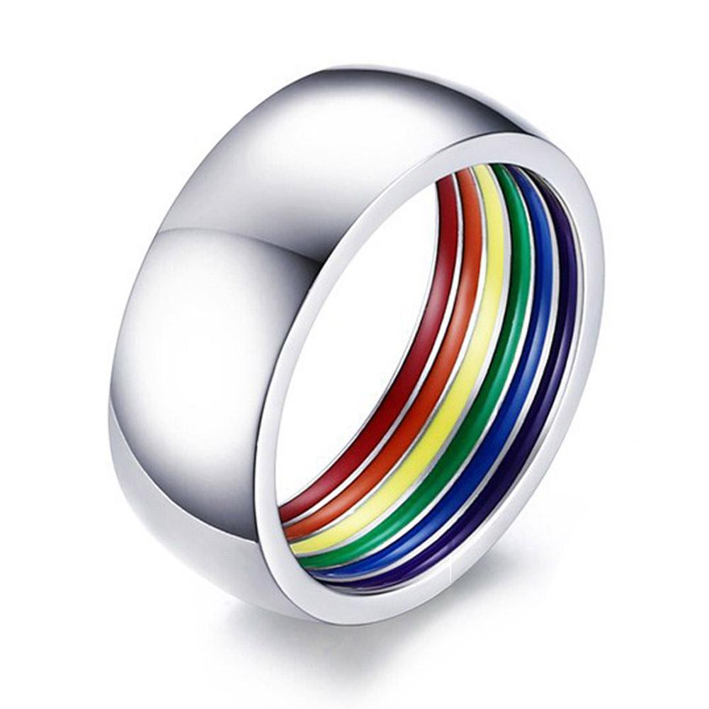 steel jewelry product polished new rings online ring store rainbow fashion gay with high pride band titanium ornaments
