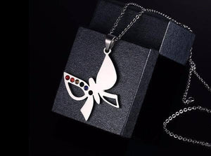 LGBT Necklace Pride Butterfly - Rainbow Gay Necklaces - gaypridehub