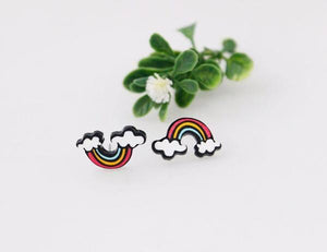 LGBT Stud Earrings Rainbow - Gay And Lesbian Pride - gaypridehub