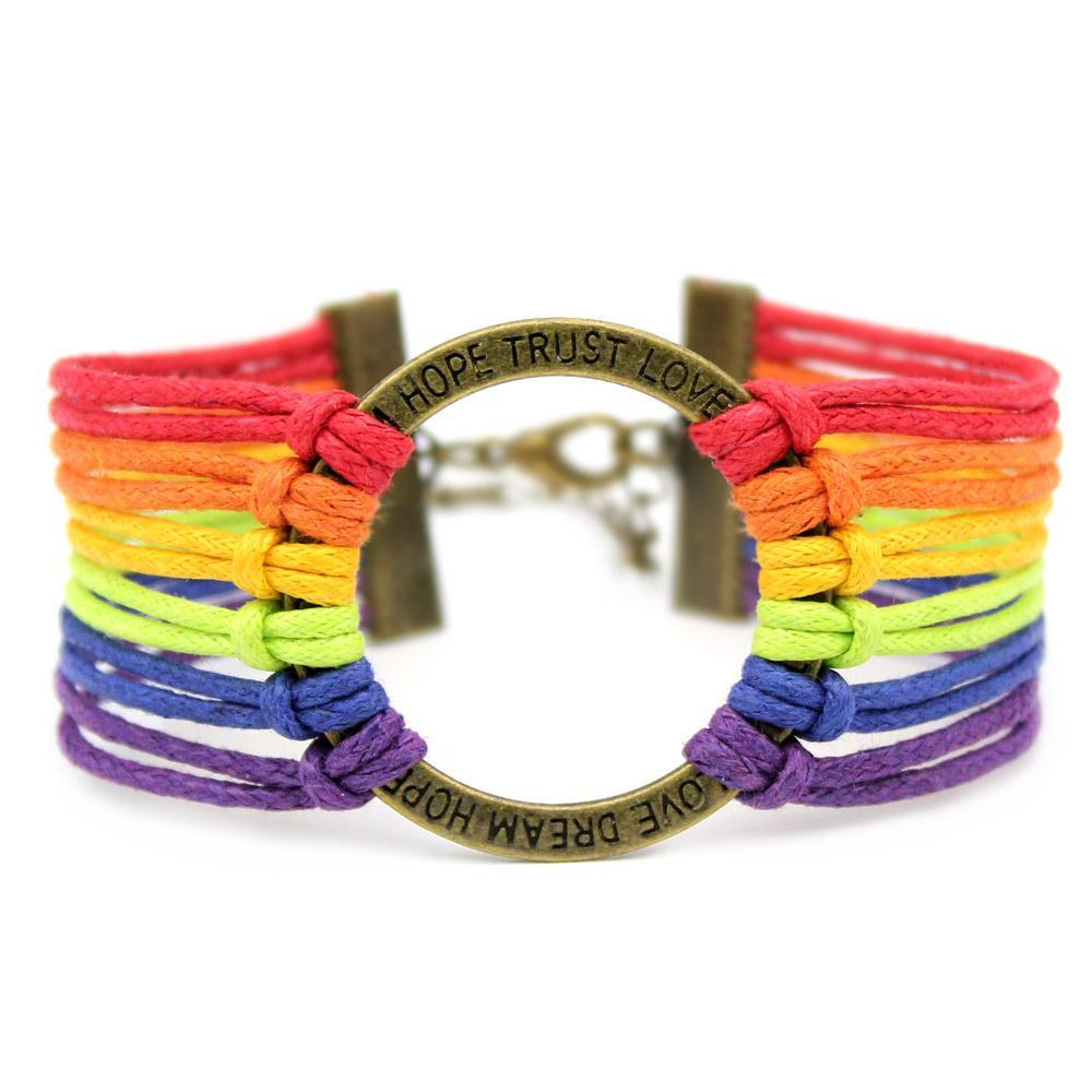 o and pride bracelet gay ebay friendship itm rainbow bear