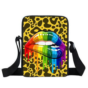 Pride Rainbow Lips Bag - LGBT Gay And lesbian Mini Bag - gaypridehub