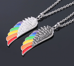 Rainbow Angel's Wings Necklace