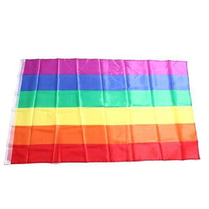 Rainbow Flag 3x5 FT Polyester - LGBT Gay And Lesbian Pride - gaypridehub