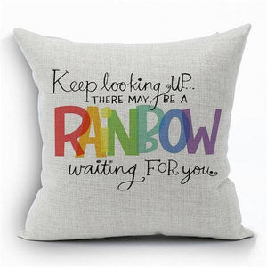 Rainbow Pillow Cover- LGBT Gay and Lesbian Pride - gaypridehub