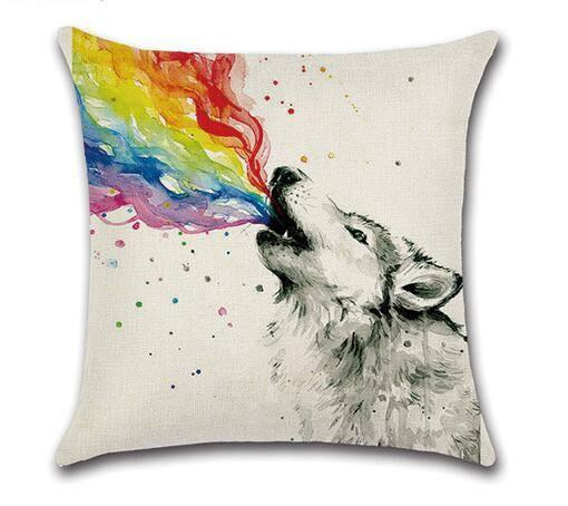 Rainbow Wolf Pillow Case - LGBT Gay and Lesbian Pride - gaypridehub