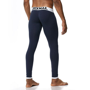 JOCKMAIL 2018 Sexy long johns pants men thermal underwear cotton printed mens thermal underwear sleeping bottoms leggings pant