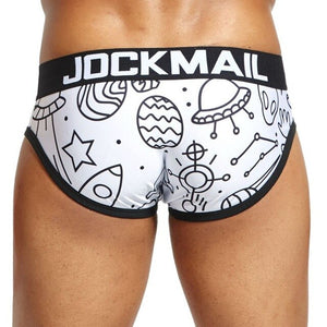 JOCKMAIL Brand sexy underwear men briefs Cuecas sissy playful printed Gay Underwear calzoncillos hombre slips Male Panties Hot