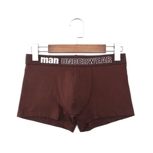 Men Underwear Boxer Cotton Man Short Breathable Solid Mens Flexible Shorts Boxers Male Underpants