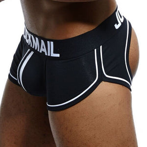 JOCKMAIL Brand Sexy Underwear Men Jockstrap Breathable cueca Gay Underwear Cotton boxershorts Panties Low Waist Thongs G-strings