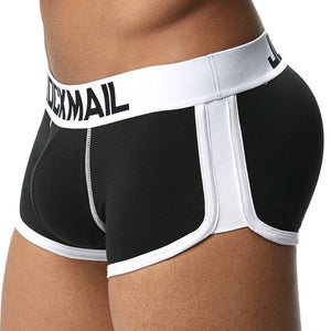 JOCKMAIL Sexy Men underwear penis and Butt Hip Enhancer push up cup Padded Gay Underwear Men boxer shorts Butt Lifter Shapewear
