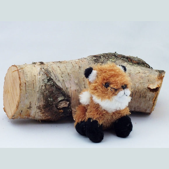 Fox finger puppet, cute furry fabric with bushy tail.