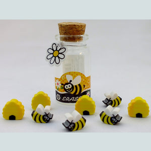 Honey Bee Erasers in a Jar - The Nature Bug