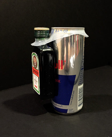 Red Bull and Jagermister combination beverage packaging