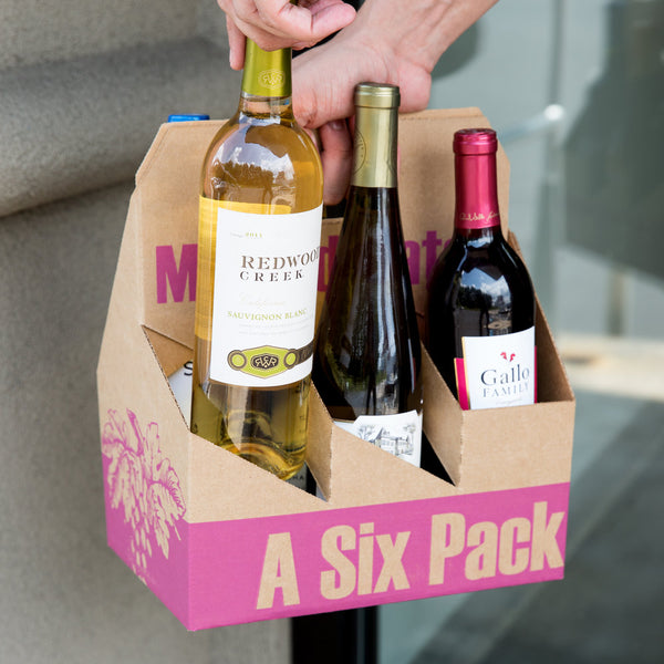 Wine Paperboard Carton Carriers (50 units)