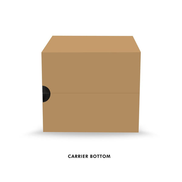 Kraft Paperboard Carton Carriers (4 Pack) (150 units)
