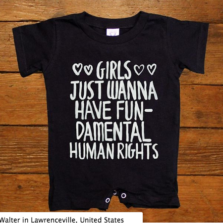 Girls Just Wanna Have Fundamental Rights Onesie