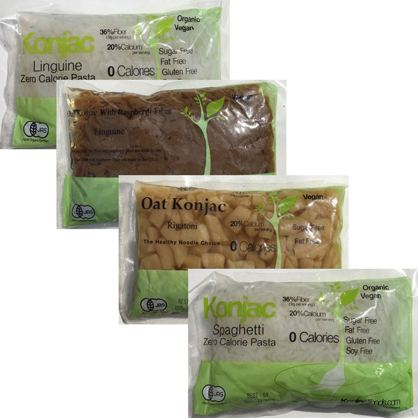 4 bags Konjac Shirataki sample pack (4 different items)