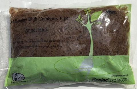 Konjac Shirataki Oat Cranberry Fiber Pasta - Angel Hair 8.8oz (Pack of 24)