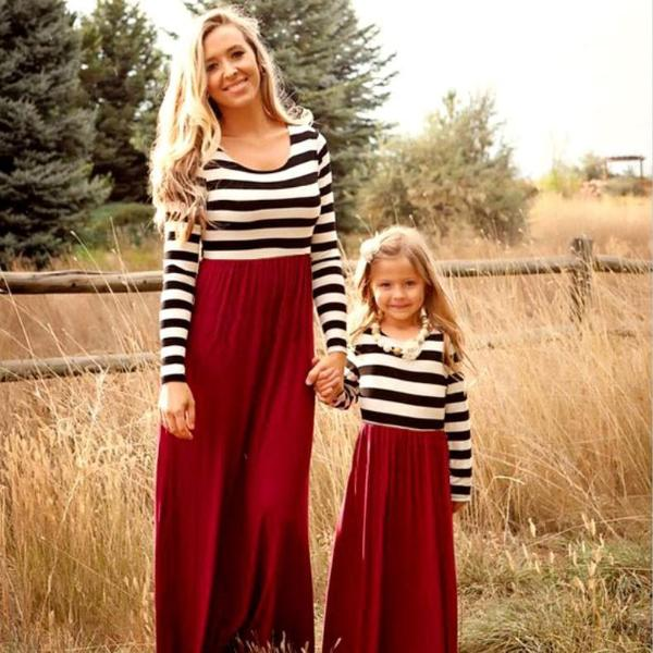 Sarah Striped Mommy & Me Dresses