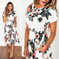 Evelyn Midi Floral Dress