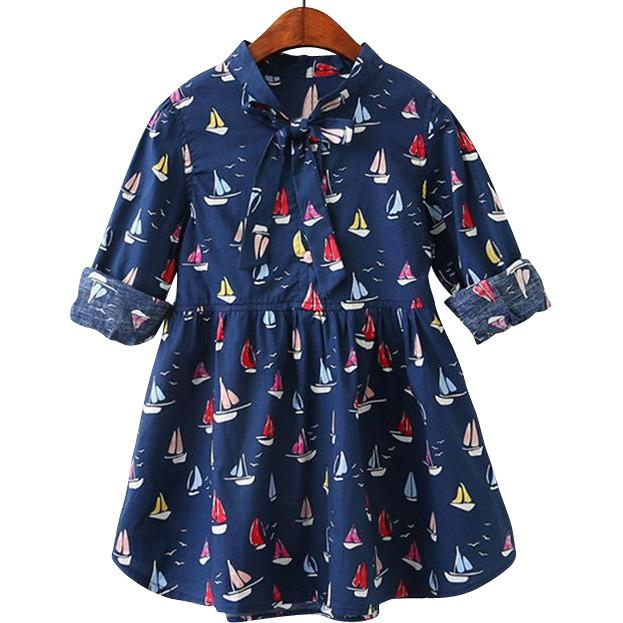 Carter Sailboat Ribbon Dress