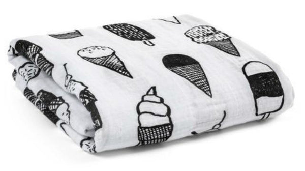 Ice Cream Muslin Swaddle