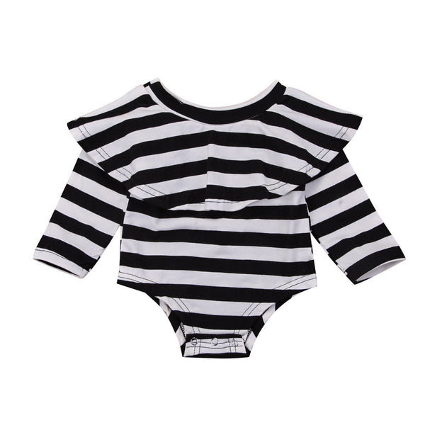 Striped Collar Onesie