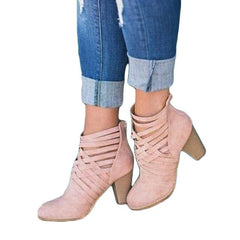 Victoria Crisscross Booties