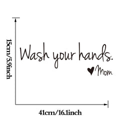 Wash Your Hands Wall Waterproof Wall Decal