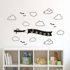 Personalized Clouds Wall Decal
