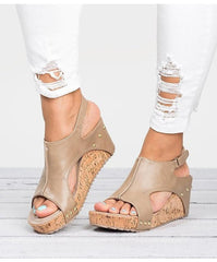 Miki Peep Toe Wedge