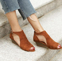 Peyton Canvas Cutout Wedge